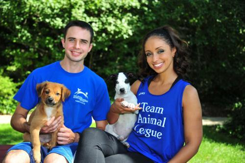 Mya Joins Team Animal League in the ING New York City